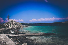 Playa de Grecia Imágenes de archivo libres de regalías