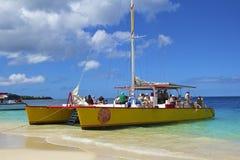 Playa de Grenada, del Caribe Fotos de archivo libres de regalías