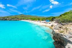 Playa de Grote Knip, Curaçao, Antillas holandesas - playa del paraíso fotos de archivo libres de regalías