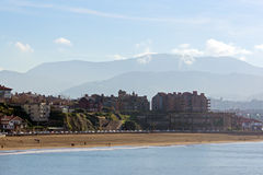 Playa de Guecho Fotos de archivo libres de regalías