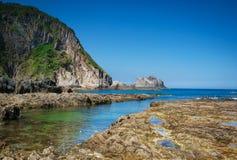 Playa de Gueirua Foto de archivo