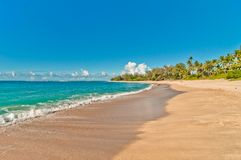 Playa de Haena en la isla de Kauai, Hawaii Imagen de archivo
