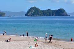 Playa de Hahei - Nueva Zelanda Fotografía de archivo
