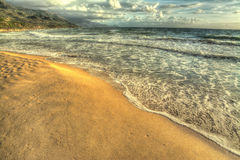 Playa de Hdr Imagenes de archivo