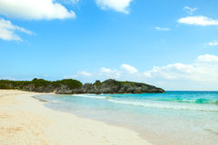 Playa de herradura de la bahía de Bermudas imagenes de archivo