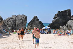 Playa de herradura de la bahía en Bermudas fotos de archivo