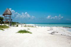 Playa de Holbox Foto de archivo libre de regalías