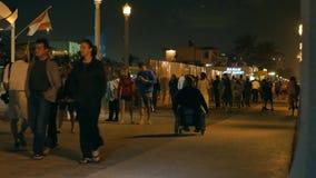 Playa de Hollywood en la noche almacen de metraje de vídeo