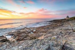 Playa de Howick en Northumberland imagen de archivo