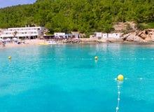 Playa de Ibiza Port de San Miquel San Miguel Foto de archivo libre de regalías