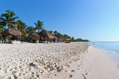 Playa en el Playa del Carmen, México Imagenes de archivo