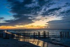 Playa de Isla Mujeres de la puesta del sol, paraíso tropical, del Caribe méxico Fotografía de archivo