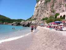 Playa de Italia Liguria Varigotti imágenes de archivo libres de regalías