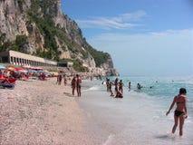 Playa 2 de Italia Liguria Varigotti imagen de archivo libre de regalías