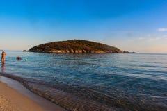 Playa de Italt Teulada de la opinión del mar Foto de archivo libre de regalías