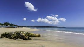 Playa de Jimbarang en Bali - Indonesia Foto de archivo libre de regalías
