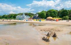 Playa de Jurmala Imagen de archivo libre de regalías