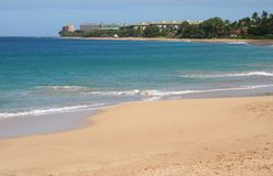 Playa de Kaanapali en Maui Hawaii Imagenes de archivo