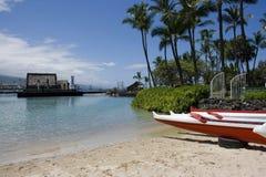 Playa de Kailua-Kona Fotos de archivo libres de regalías