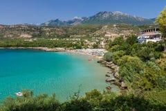 Playa de Kalogria Fotos de archivo