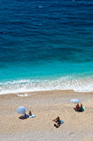Playa de Kaputas en el turco mediterráneo Foto de archivo libre de regalías