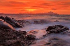 Playa de Karidi Sithonia, Grecia Foto de archivo libre de regalías
