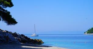 Playa de Kastani, Skopelos fotos de archivo libres de regalías