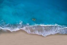 Playa de Kathisma en la isla Grecia de Lefkada imagen de archivo