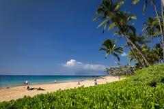 Playa de Keawakapu, orilla del sur de Maui, Hawaii Imagen de archivo libre de regalías