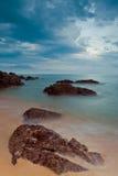 Playa de Kemasik, Terengganu, Malasia fotografía de archivo