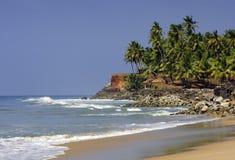 Playa de Kerala, la India Fotografía de archivo