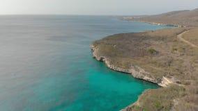 Playa de Kleine Knip en Curaçao, almacen de metraje de vídeo