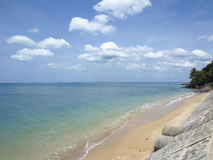 Playa de Klong Tob, ubicación en la isla de Lanta Imagen de archivo