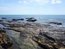 Playa de Klong Tob, ubicación en la isla de Lanta Foto de archivo