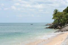 Playa de Klong Tob, ubicación en la isla de Lanta Foto de archivo libre de regalías