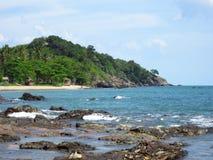Playa de Klong Tob, ubicación en la isla de Lanta Fotos de archivo