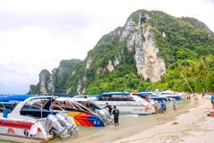 Playa de Koh Phi Phi Don Krabi, Tailandia foto de archivo
