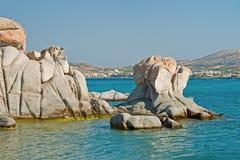 Playa de Kolymbithres de la isla de Paros en Grecia Foto de archivo libre de regalías