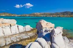 Playa de Kolymbithres, isla de Paros, Cícladas, egeas, Grecia Foto de archivo libre de regalías