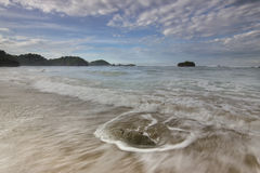 Playa de Kondang Merak - Malang, Indonesia Imagen de archivo