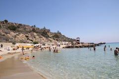 Playa de Konnos foto de archivo libre de regalías