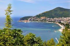 Playa de Kotor Imágenes de archivo libres de regalías