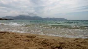 Playa de Koufonisia almacen de metraje de vídeo