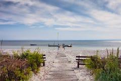 Playa de Kuznica en la península de los Hel en Polonia imágenes de archivo libres de regalías