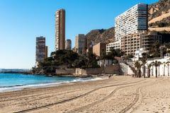 Playa de la Albufereta Alicante Immagine Stock Libera da Diritti