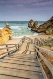 Playa de la anecdotario de Doña en Lagos, Algarve, Portugal Fotos de archivo libres de regalías