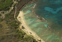 Playa de la antena de Hawaii Imagen de archivo libre de regalías