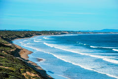 Playa de la arboleda del océano, Victoria, Australia imagenes de archivo