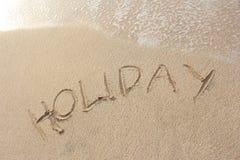 Playa de la arena con Foto de archivo