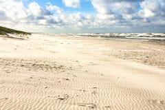 Playa de la arena en el mar Báltico foto de archivo